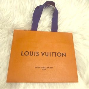 Authentic Louis Vuitton small paper shopping bag